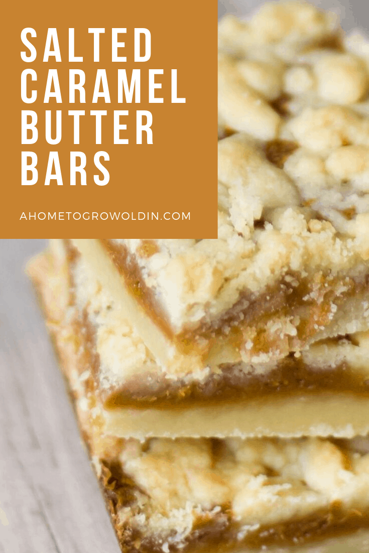 three stacked salted caramel butter bars