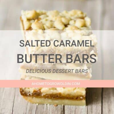 three salted caramel butter bars