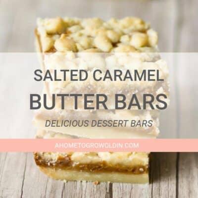 three salted caramel butter bars