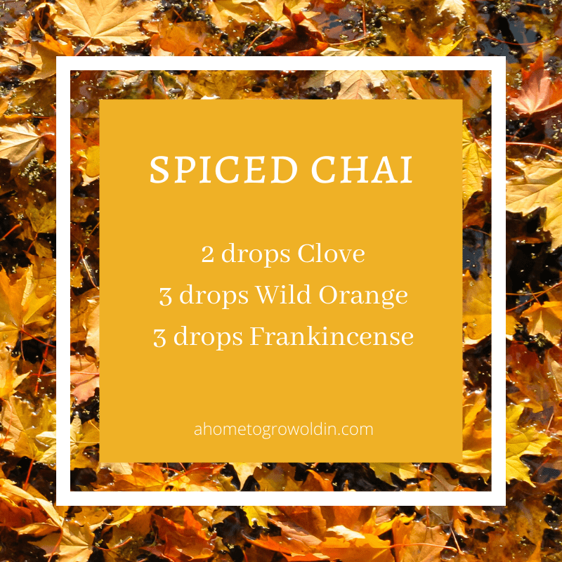 fall essential oil blends, clove, wild orange, frankincense