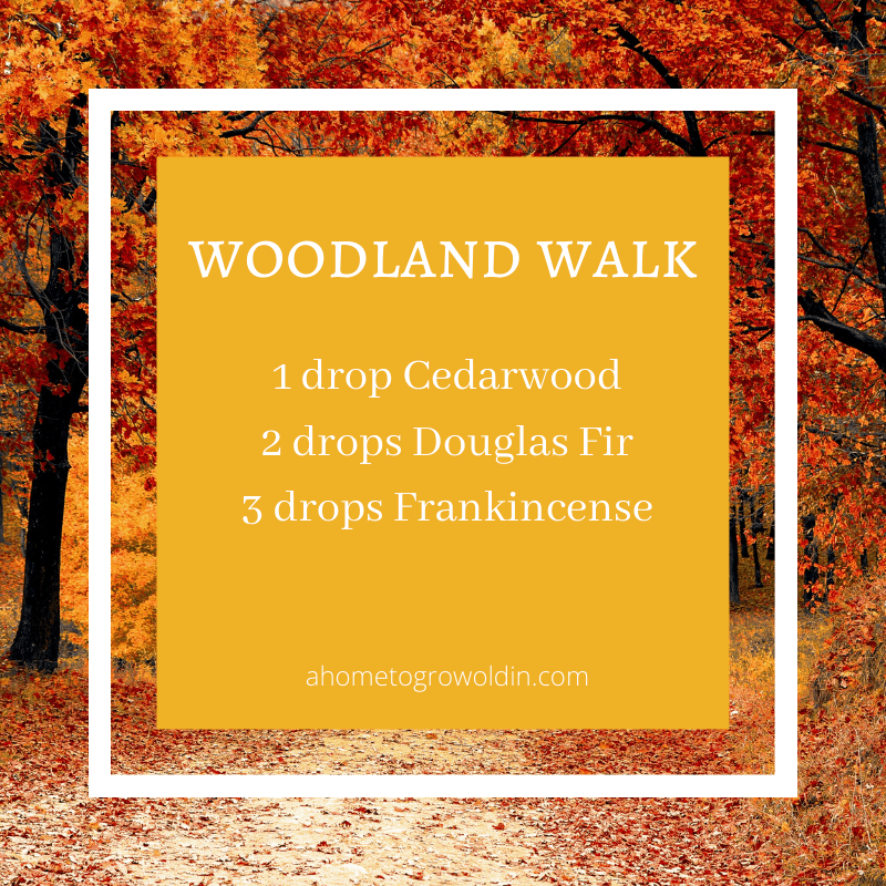 fall essential oil blends, cedarwood, douglas fir, frankincense