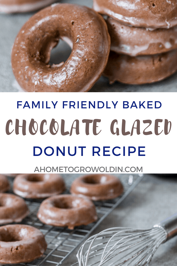 baked chocolate glazed donuts