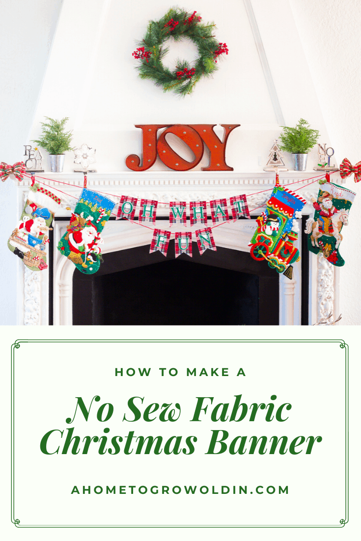 How To Make A Festive Christmas Banner A Home To Grow Old In