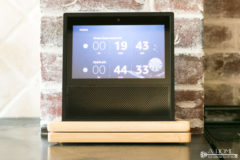 echo show with multiple kitchen timers on the screen