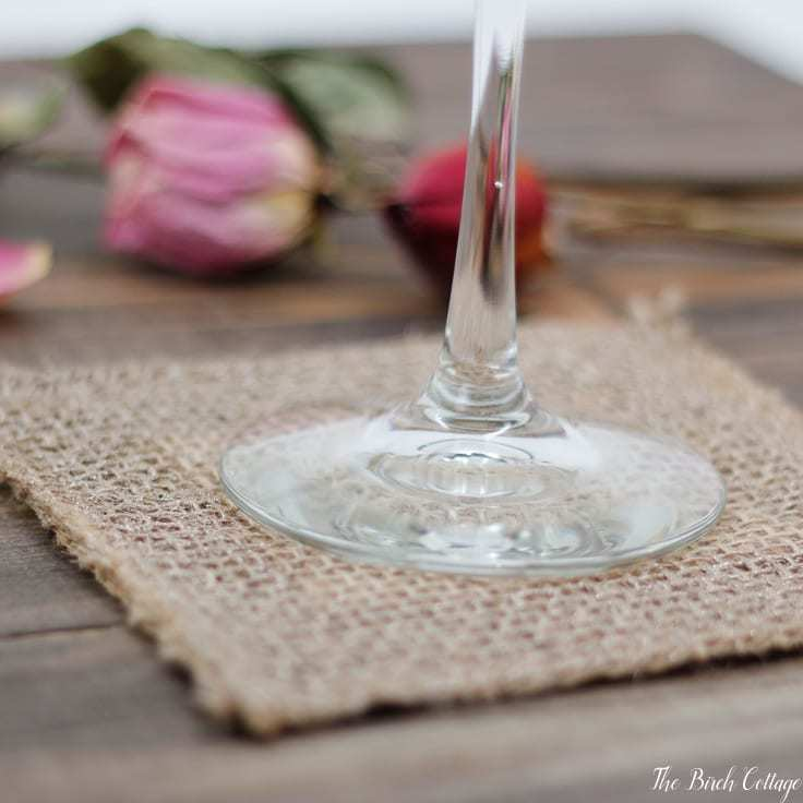 coasters made from burlap ribbon