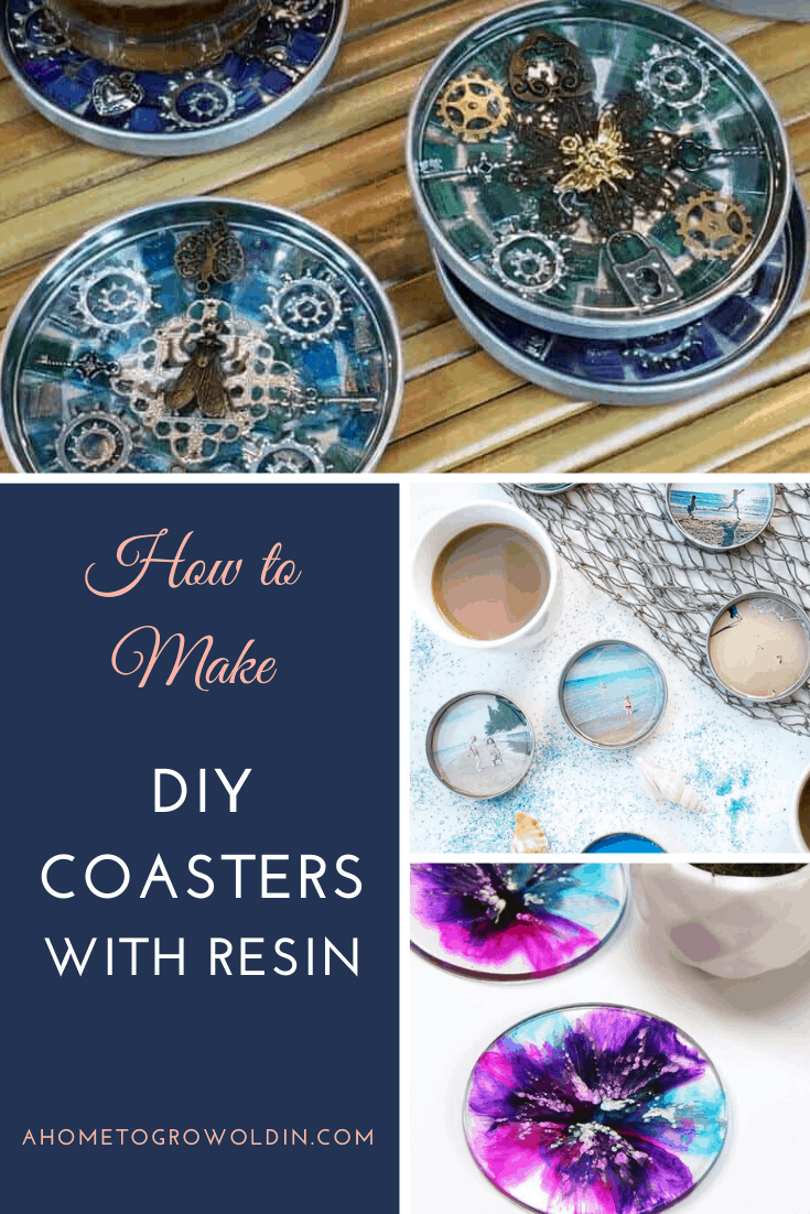 DIY coasters made with resin