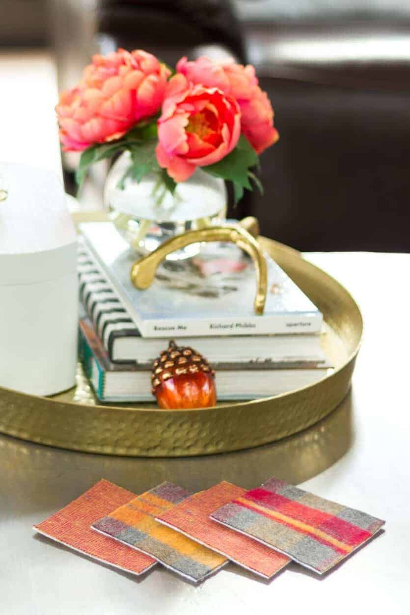 quick and easy no sew flannel fabric coasters