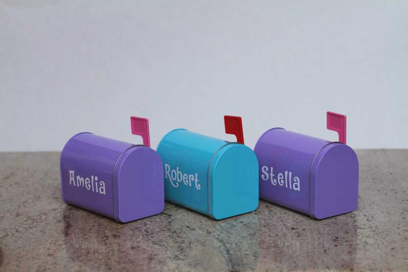 A Valentine's day mailbox for three recipients