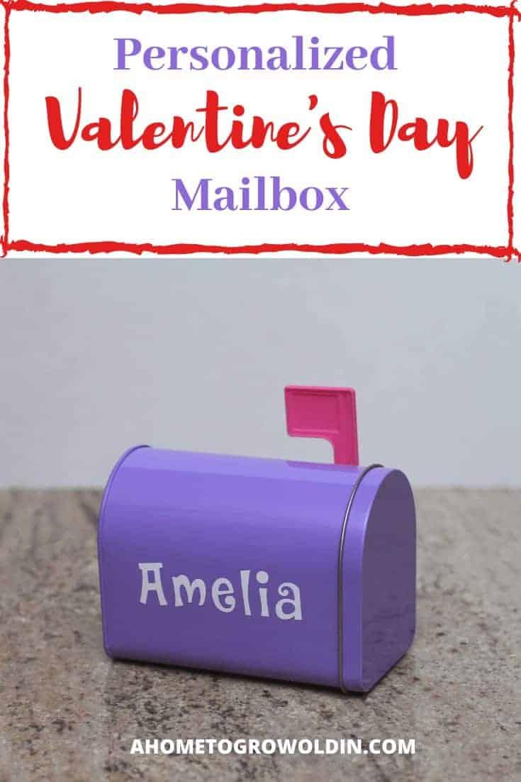 Personalized Valentine's Day mailbox