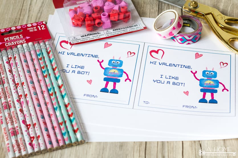 valentines pencils for printable kids valentine cards