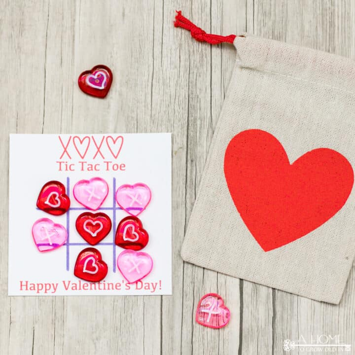 Printable Tic Tac Toe Valentine Cards