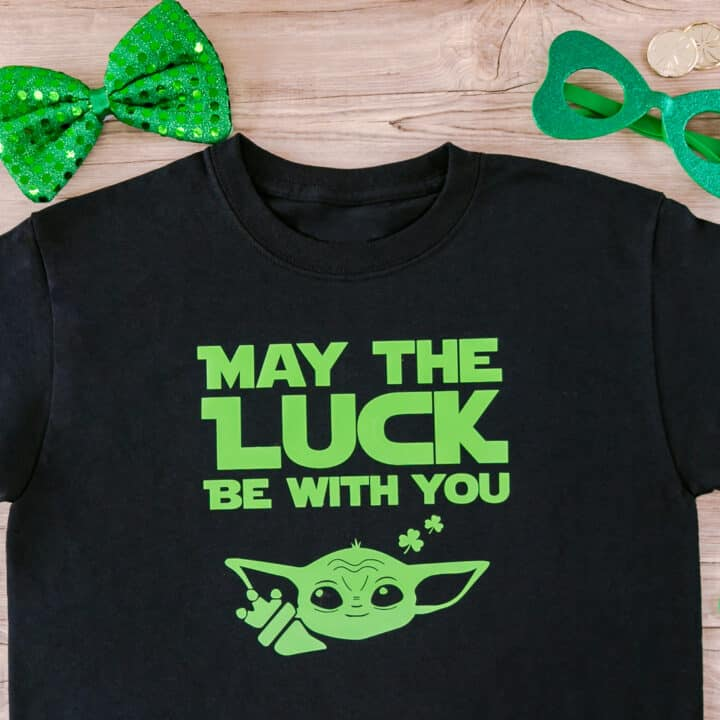 St. Patrick's Day Baby Alien T-Shirt from an SVG File