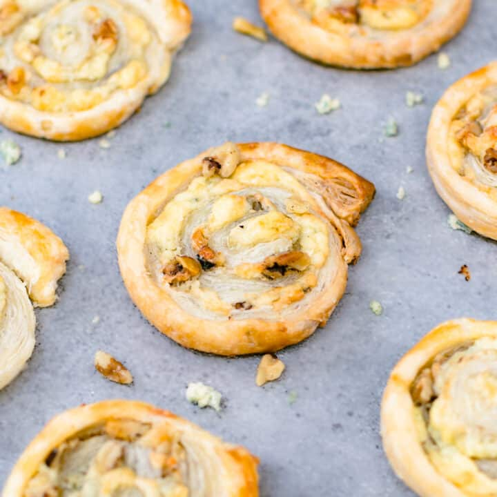 Walnut and Blue Cheese Pinwheel Appetizers