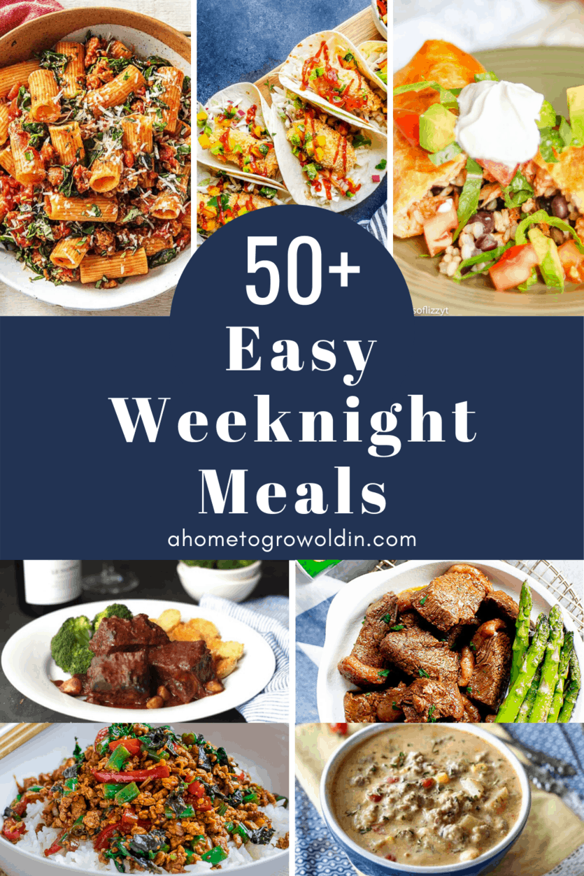 over 50 easy weeknight meals