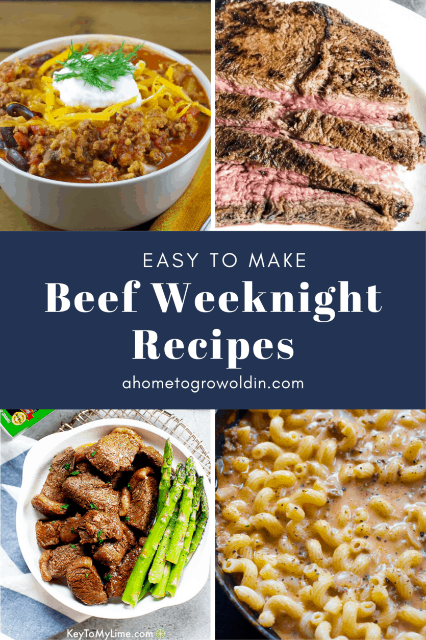 easy to make beef weeknight meals