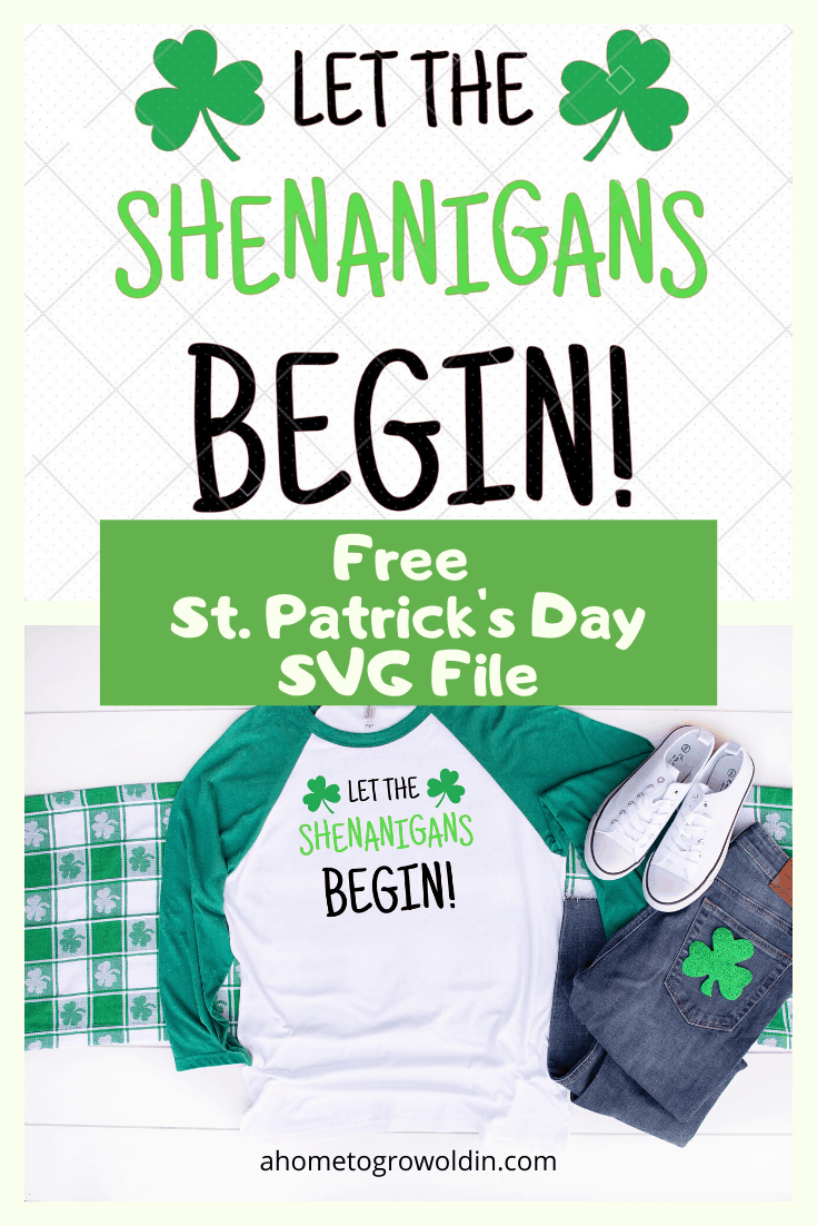 St. Patrick's Day T-Shirt with SVG cut file