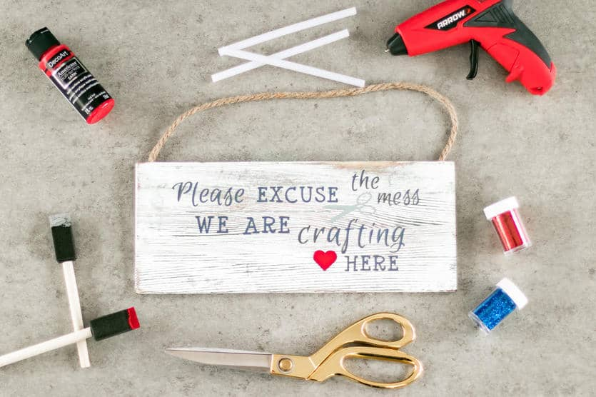 crafting quote wooden sign