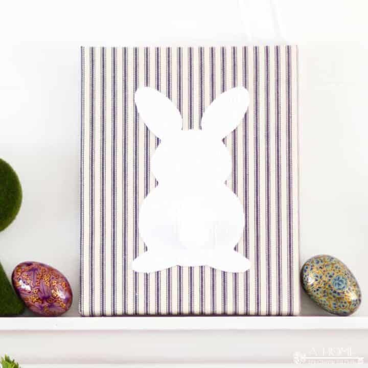 Fabric Wrapped Bunny Canvas