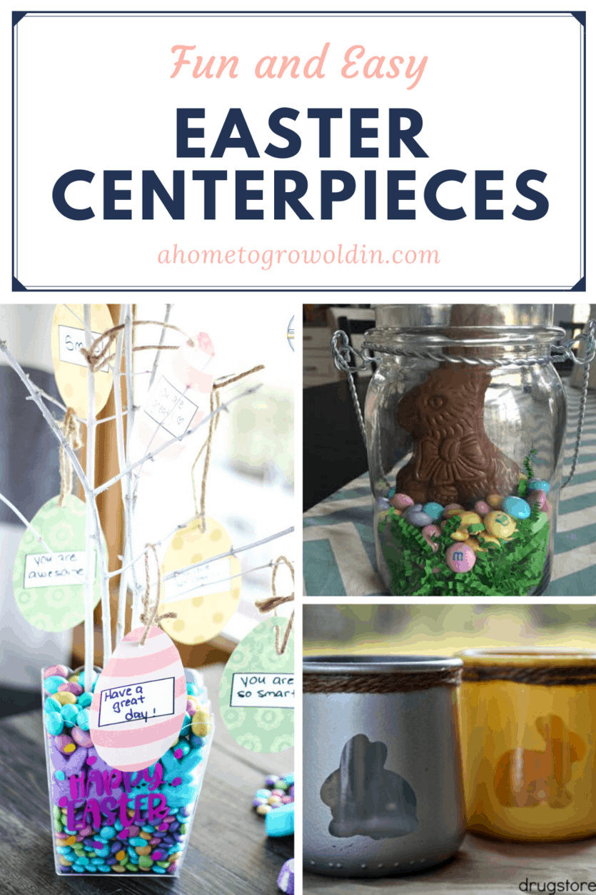 different Easter centerpieces