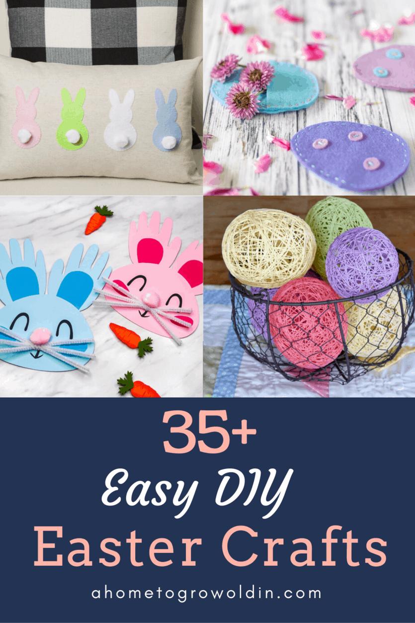 over 35 DIY Easter crafts