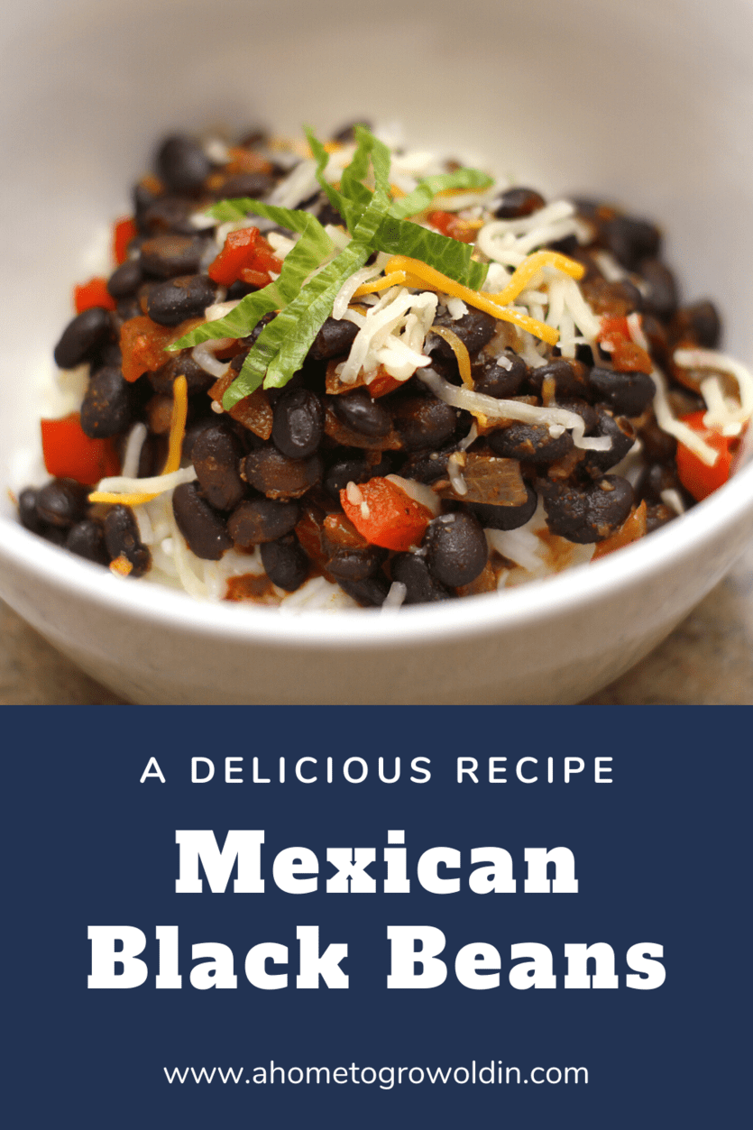 delicious Mexican black beans
