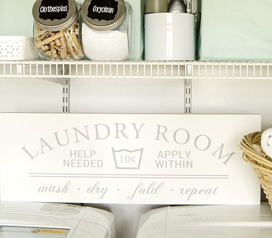 Painted Laundry Room Sign