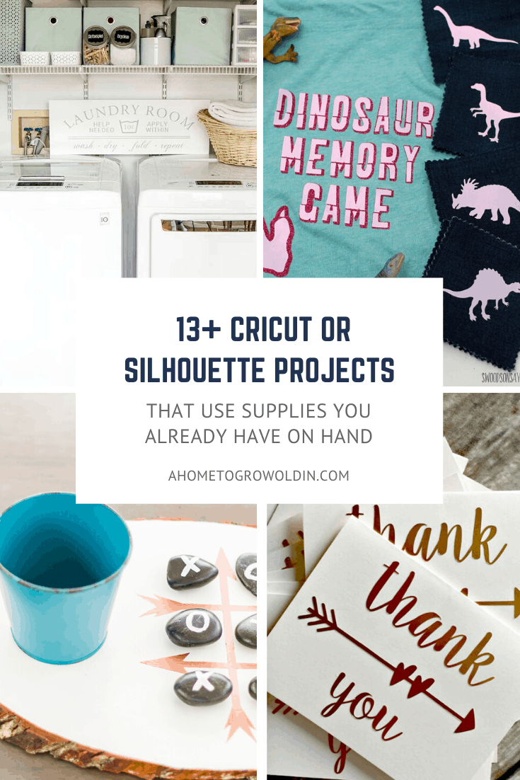 various Cricut and Silhouette projects that can be made with cutting machine supplies you probably already have a thome