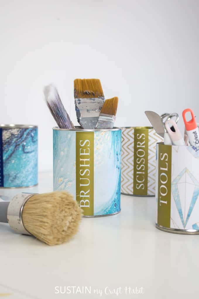Get Organized with the Upcycled Tin Can Craft