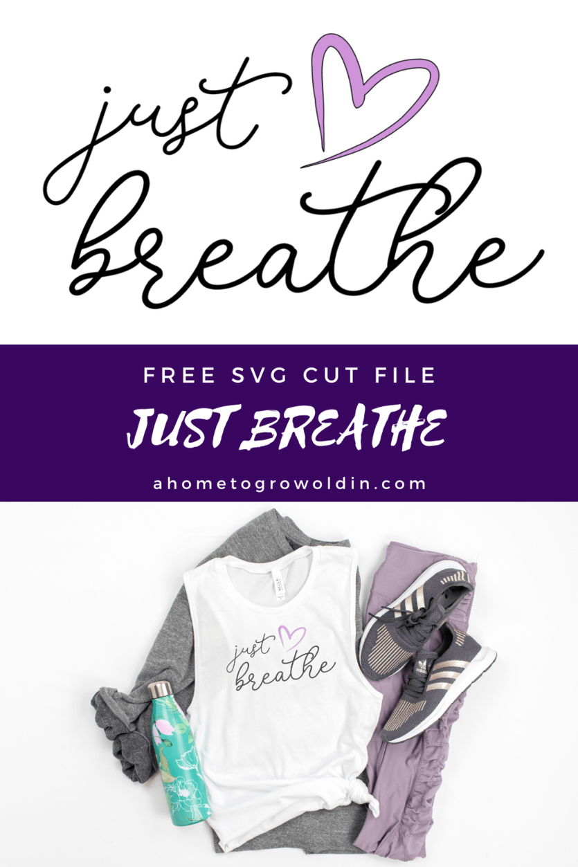 Just Breathe free SVG design