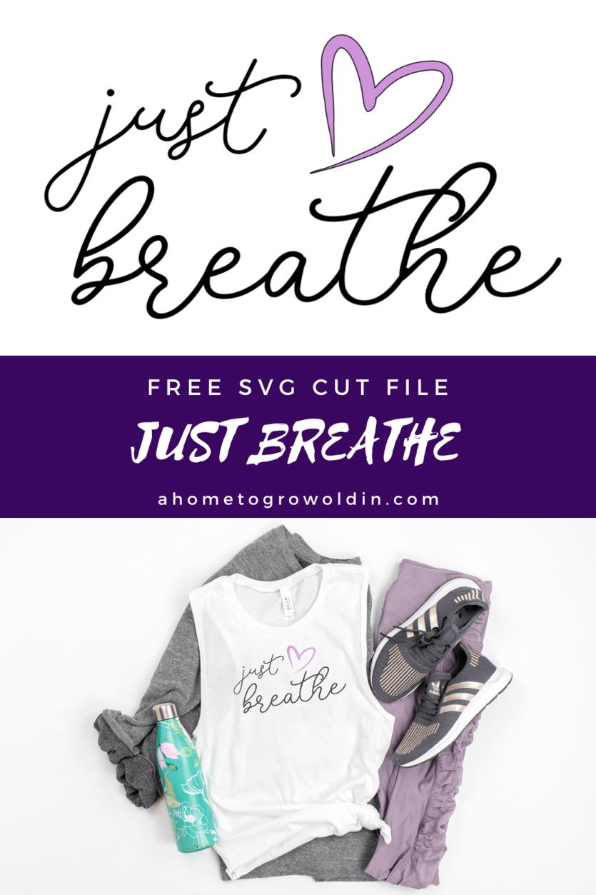 Just Breathe free SVG design