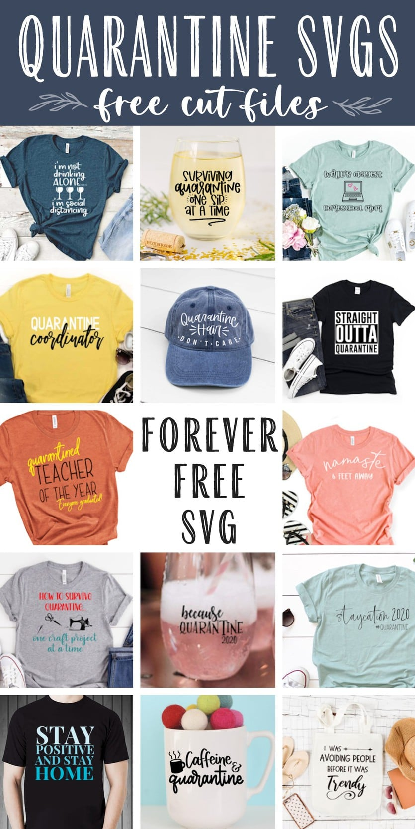 free funny quarantine quote svg cut files for a silhouette or cricut