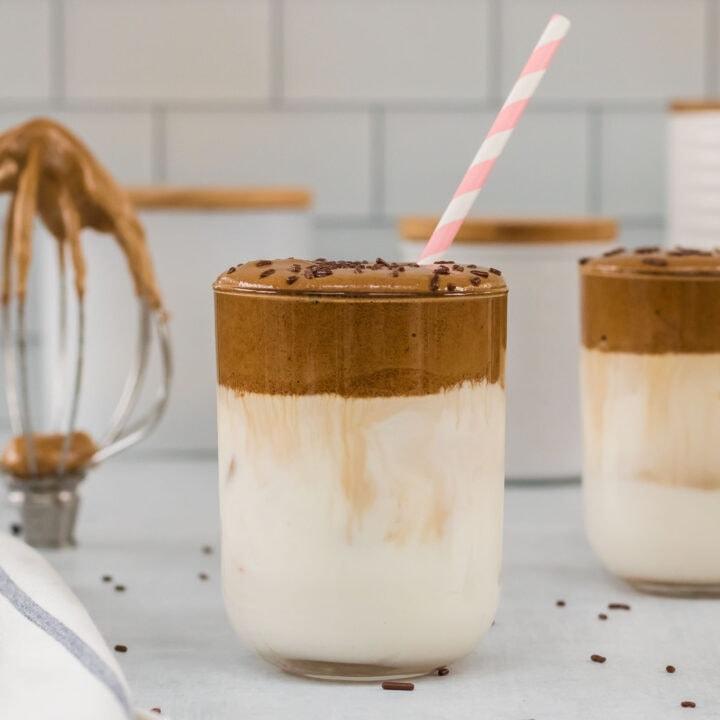 Mocha Dalgona Whipped Coffee
