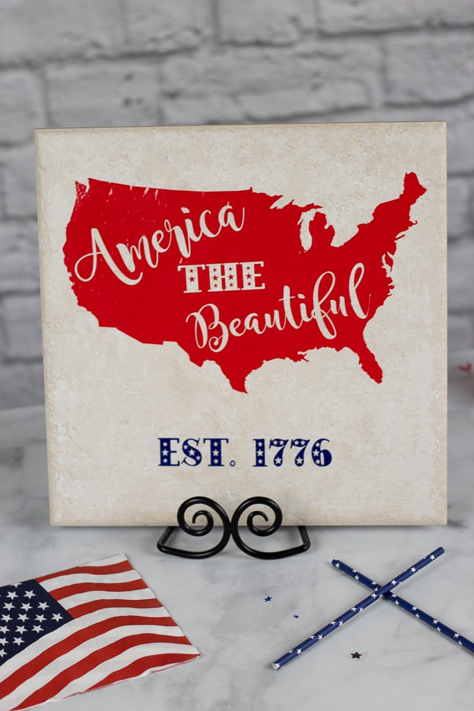 patriotic svg file used to create a DIY sign