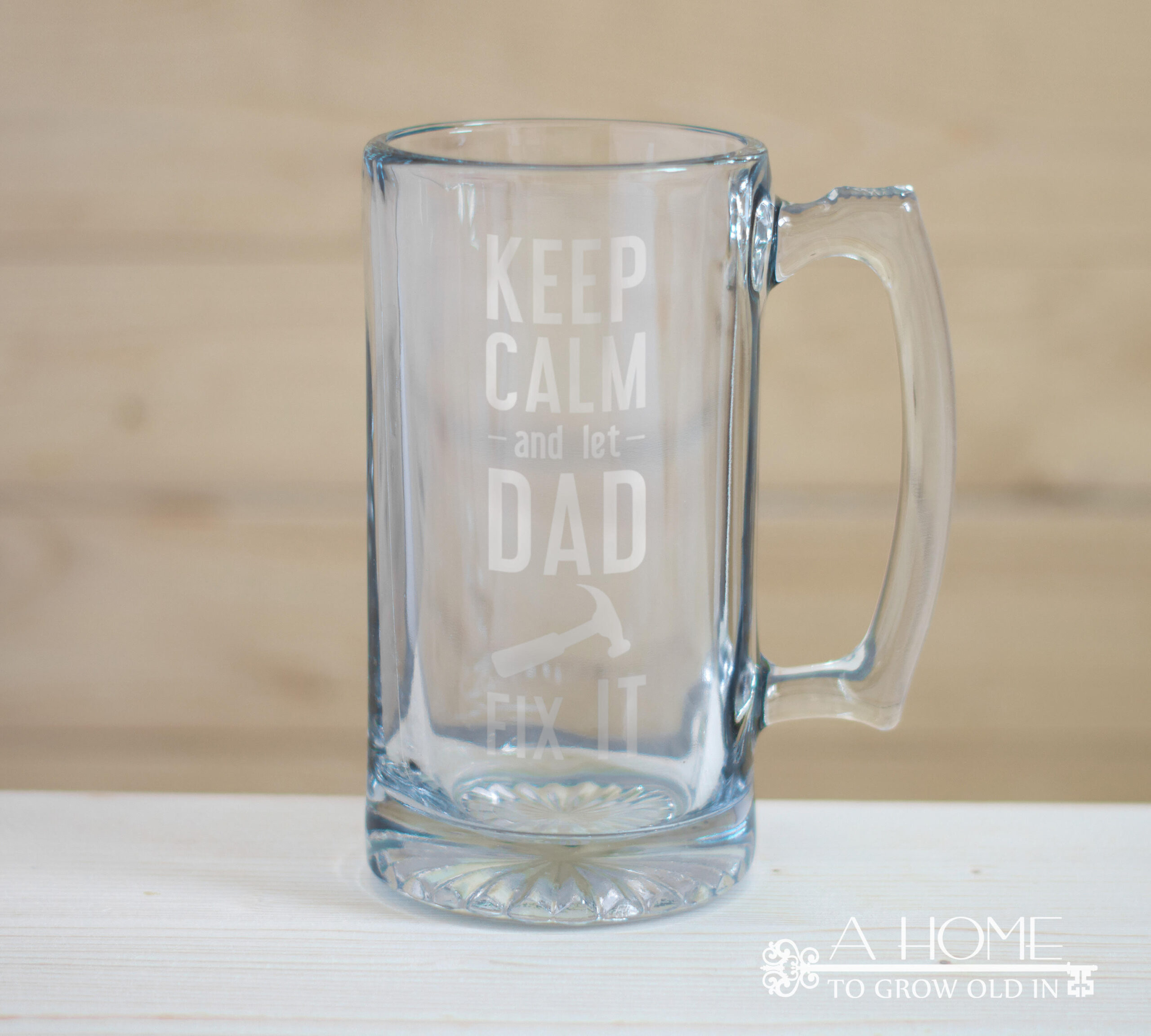 Father's Day SVG on a beer mug