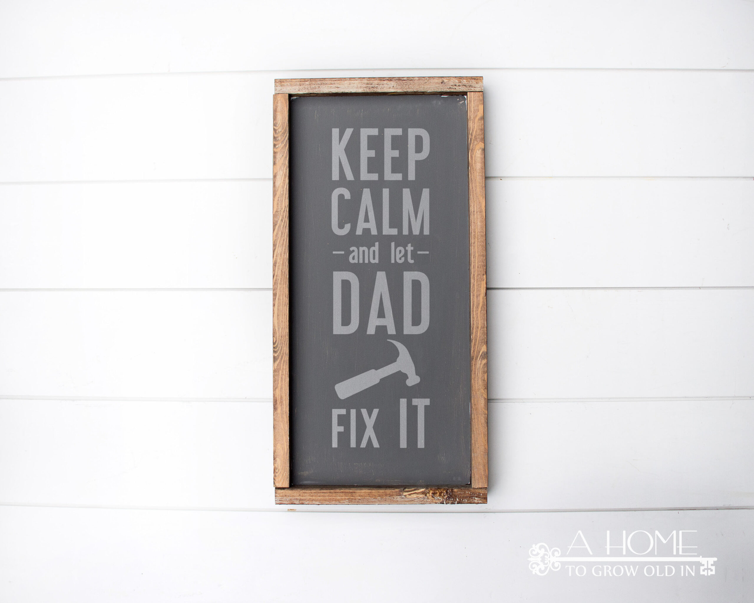 Keep calm Father's Day SVG file on a  sign