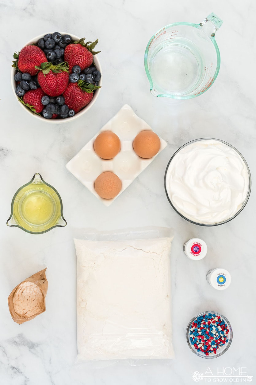 ingredients to make a patriotic trifle for 4th of july
