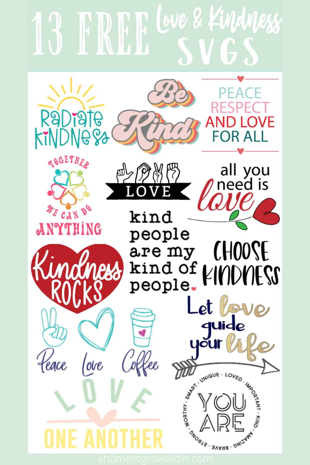 13 free peace and love svg files