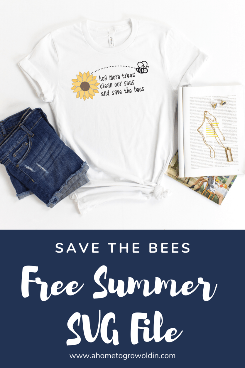 save the bees summer svg design